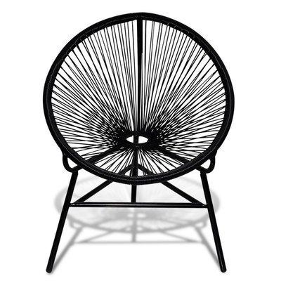 Chaise de jardin ACAPULCO en rotin synthétique NOIR