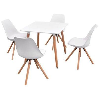 Ensemble de table et chaises de salles à manger BLANC
