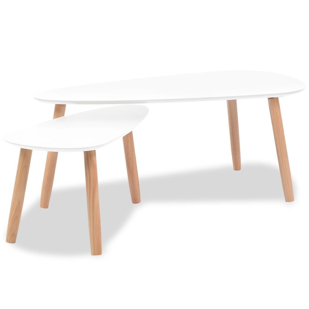 Set de 2 tables Gigognes BLANCHES