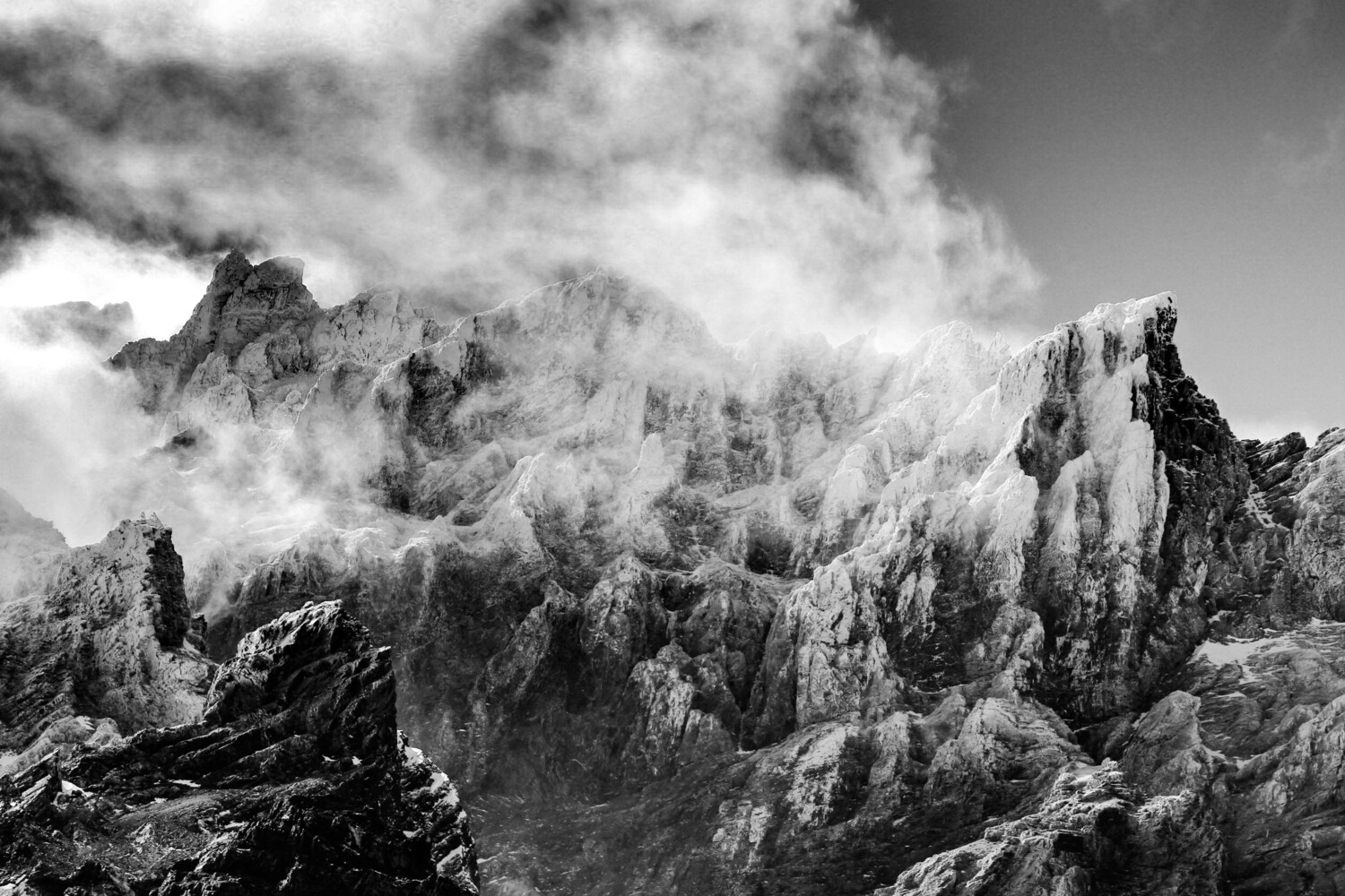 Clouds on Andes cordillera