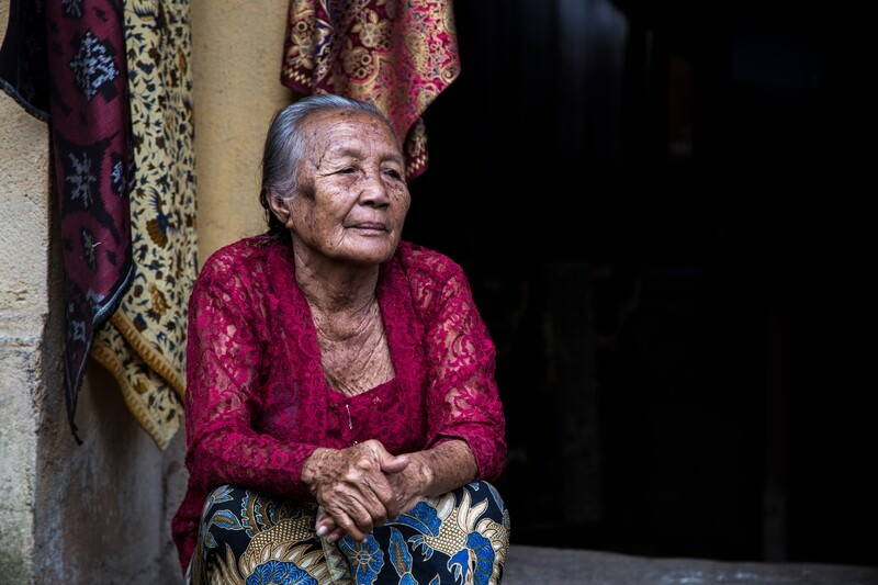 Old Balinese woman