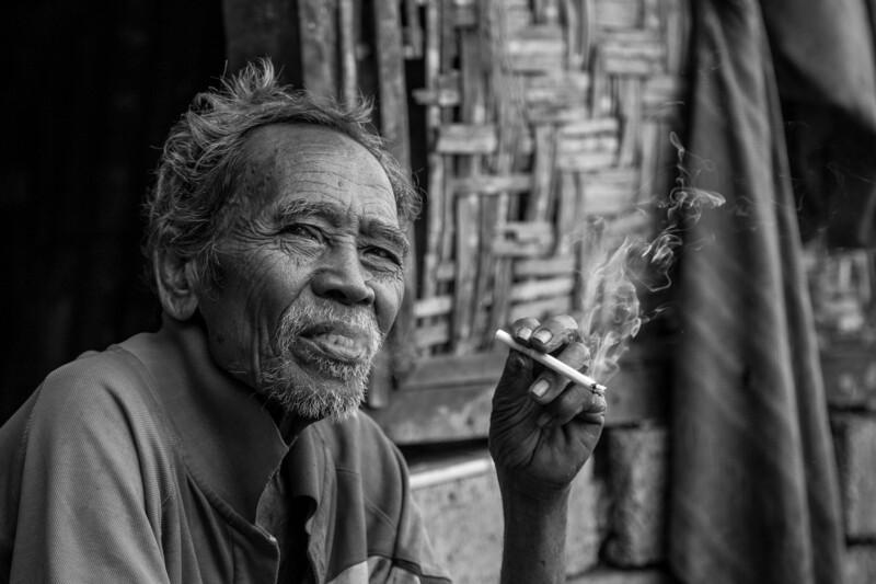 Smoking old man