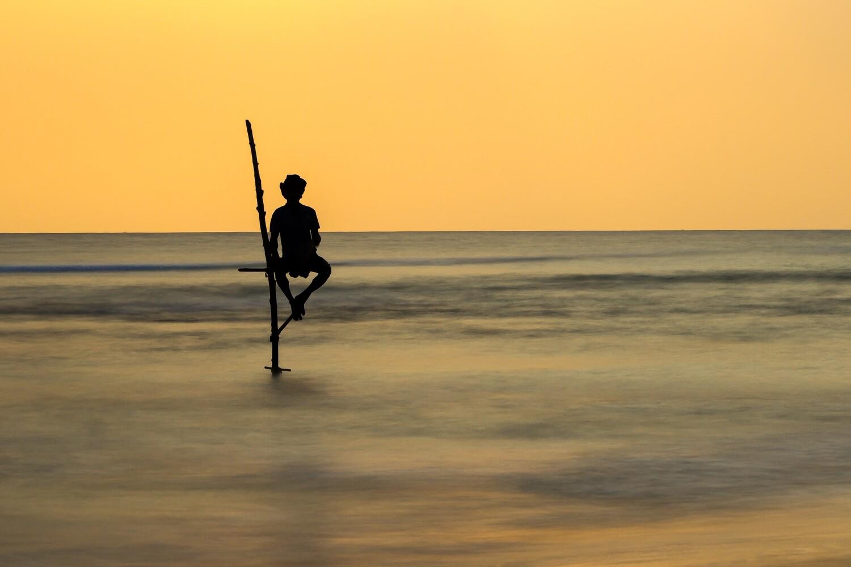 Fishing on stilts