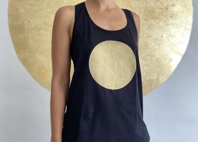 BE GOLDEN by The Lovers, Tanktop - schwarz / Druck gold
