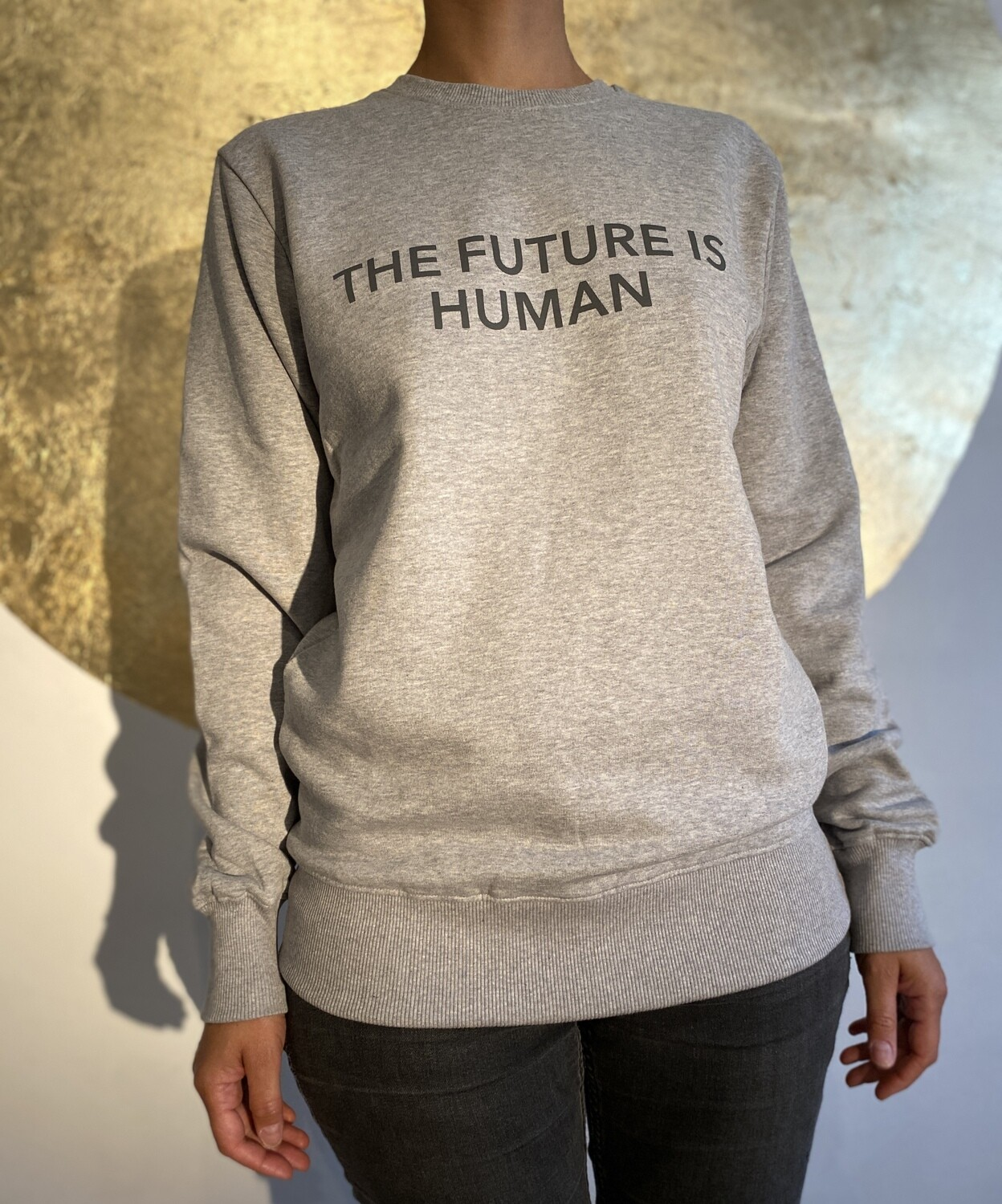 THE FUTURE IS HUMAN by The Lovers, Sweater – grau / Druck grau