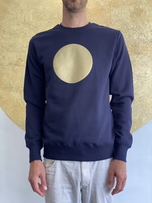 BE GOLDEN by The Lovers, Sweater - navy / Druck gold