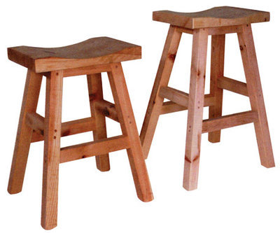 Rustic Saddle Stool by Ruff Sawn