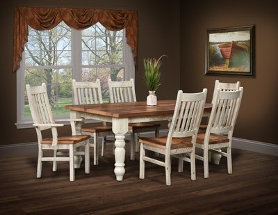 Urban Barnwood Farmhouse Dining Table and Chairs