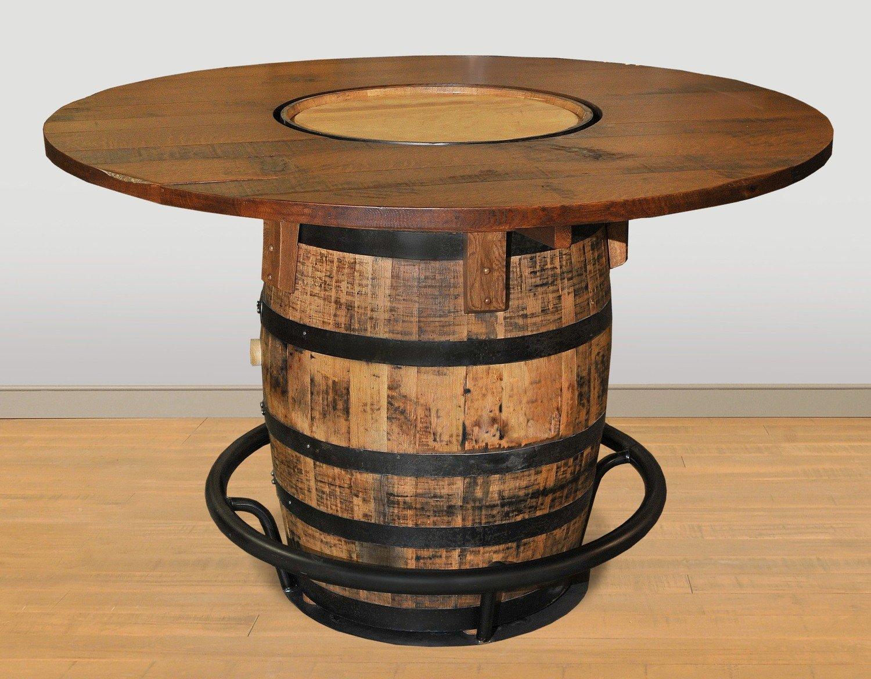 Whiskey Barrel Pub Table by Ruff Sawn