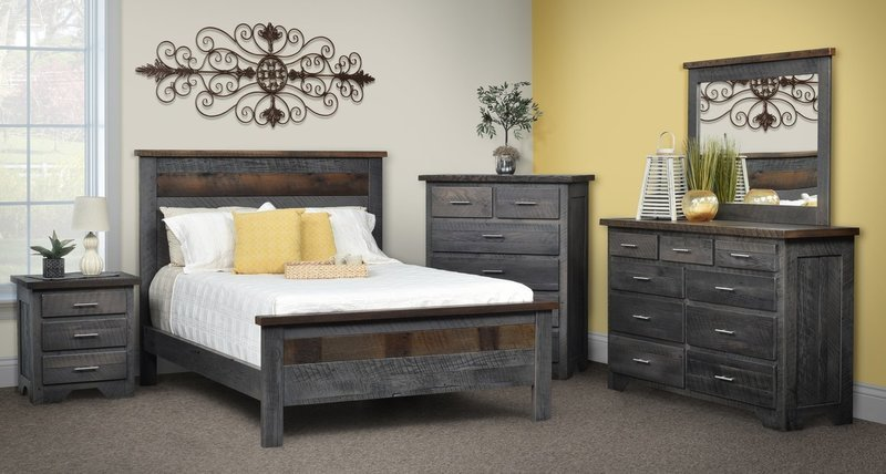 Urban Barnwood London Fog Bedroom