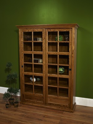 Sliding Door Bookcase by Farmside Wood