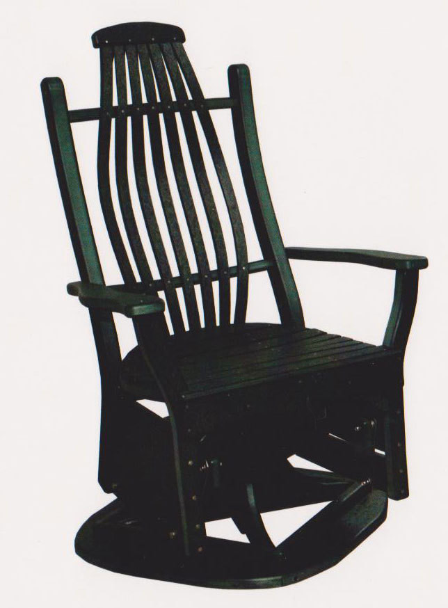 Bentwood Swivel Glider Chair Byler's Outdoor