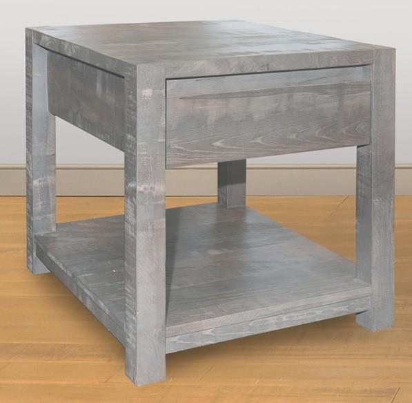 Meta Sequoia End Table by Ruff Sawn