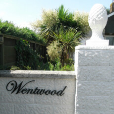 Wentwood style home name sign high quality made in steel painted black