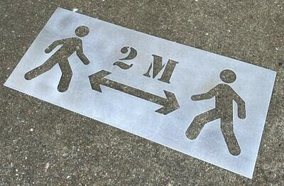 2M Floor stencil