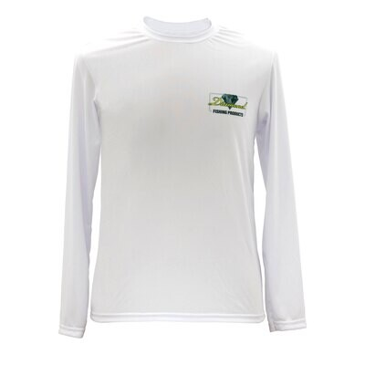 Diamond Fishing White Pro Quick Dry Long Sleeve Tech Shirt