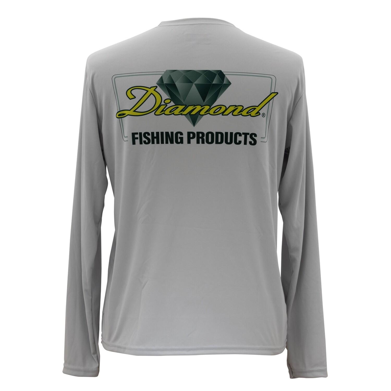 Diamond Fishing Gray Pro Quick Dry Long Sleeve Tech Shirt
