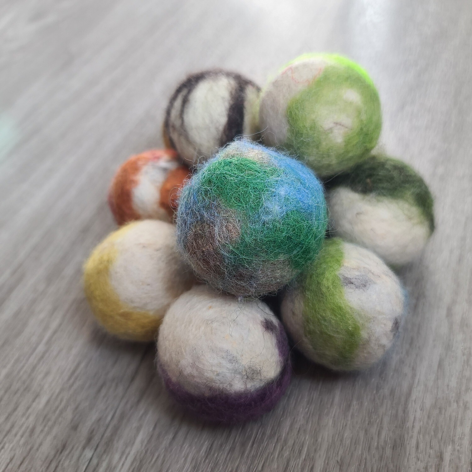 Felted Jingle-Ball Cat Toys