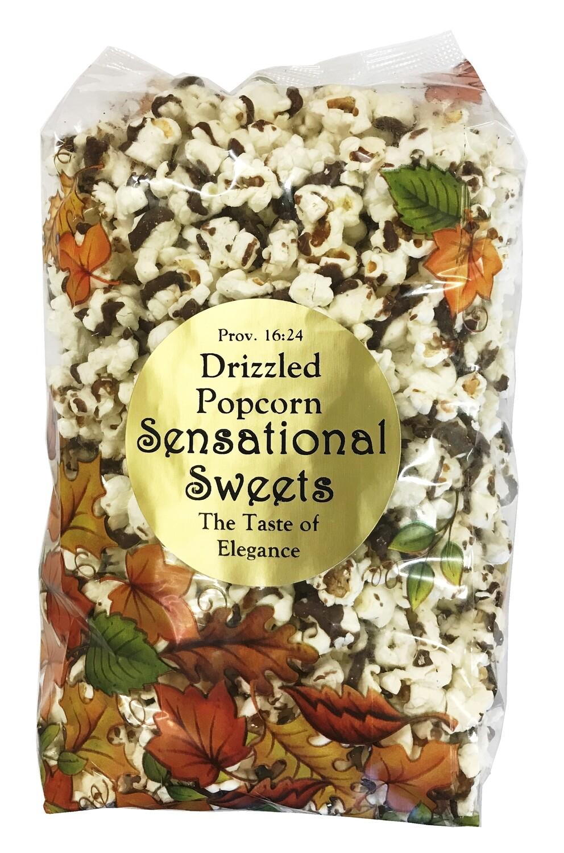 Gourmet Chocolate Drizzled Popcorn 1/2lb. Fall Bag