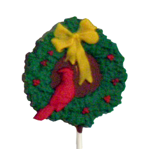Chocolate Lollipops - Pollylops® - Wreath with Bird