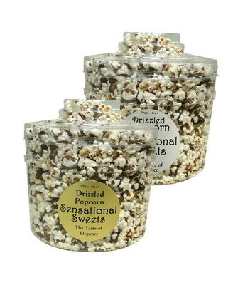 Gourmet Chocolate Drizzled Popcorn (3/4 lb. Molded Canister)