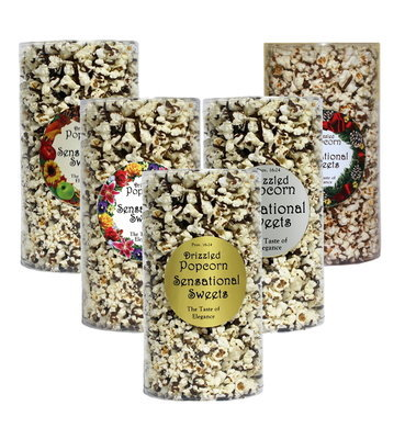 Gourmet Chocolate Drizzled Popcorn (1/2 lb. Tube)