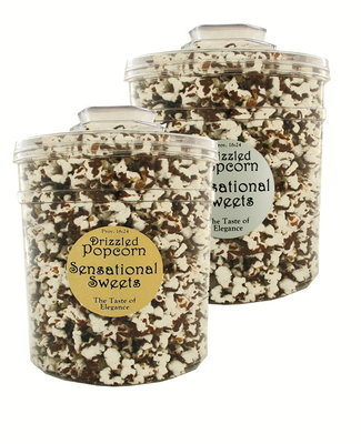 Gourmet Chocolate Drizzled Popcorn  (1 lb. Molded Canister)