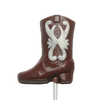 Chocolate Lollipops - Pollylops® - Cowboy Boot - painted