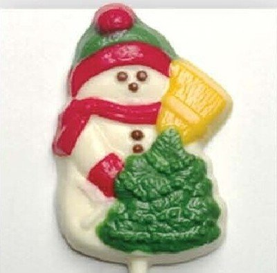 Chocolate Lollipops - Pollylops® - Snowman with Tree