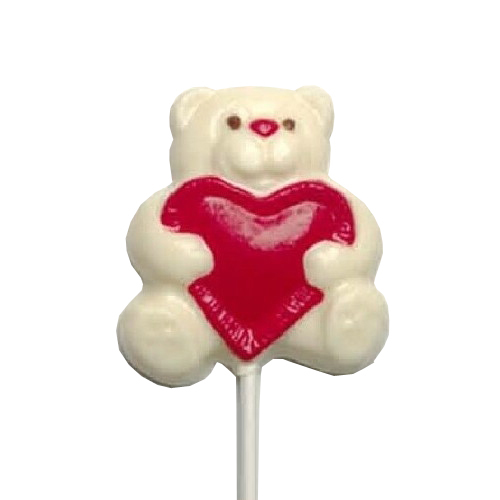 Chocolate Lollipops - Pollylops® - Bear With Heart