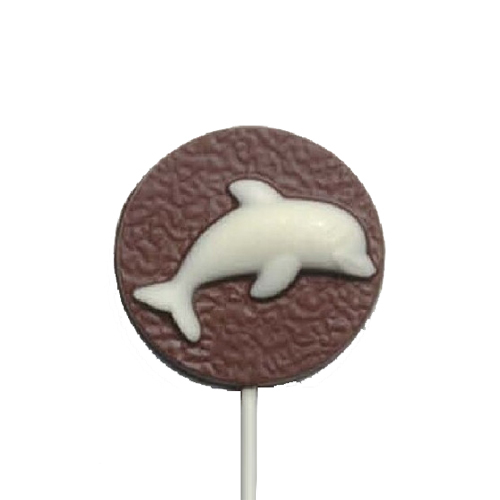 Chocolate Lollipops - Pollylops® - Dolphin on disk
