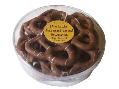 Gourmet Pretzels - Chocolate Dipped - 1/2 lb. Short Tub