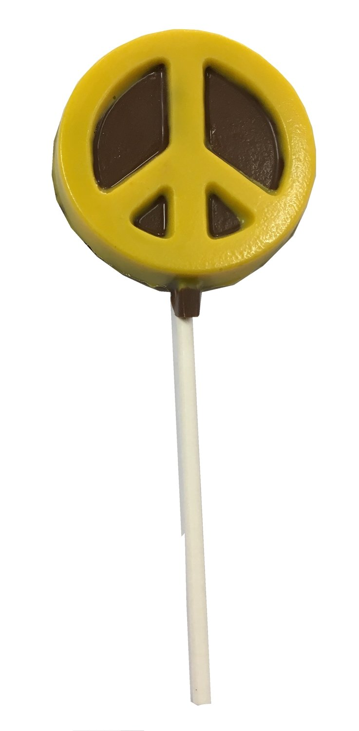 Chocolate Lollipops-Pollylops®-Peace Sign