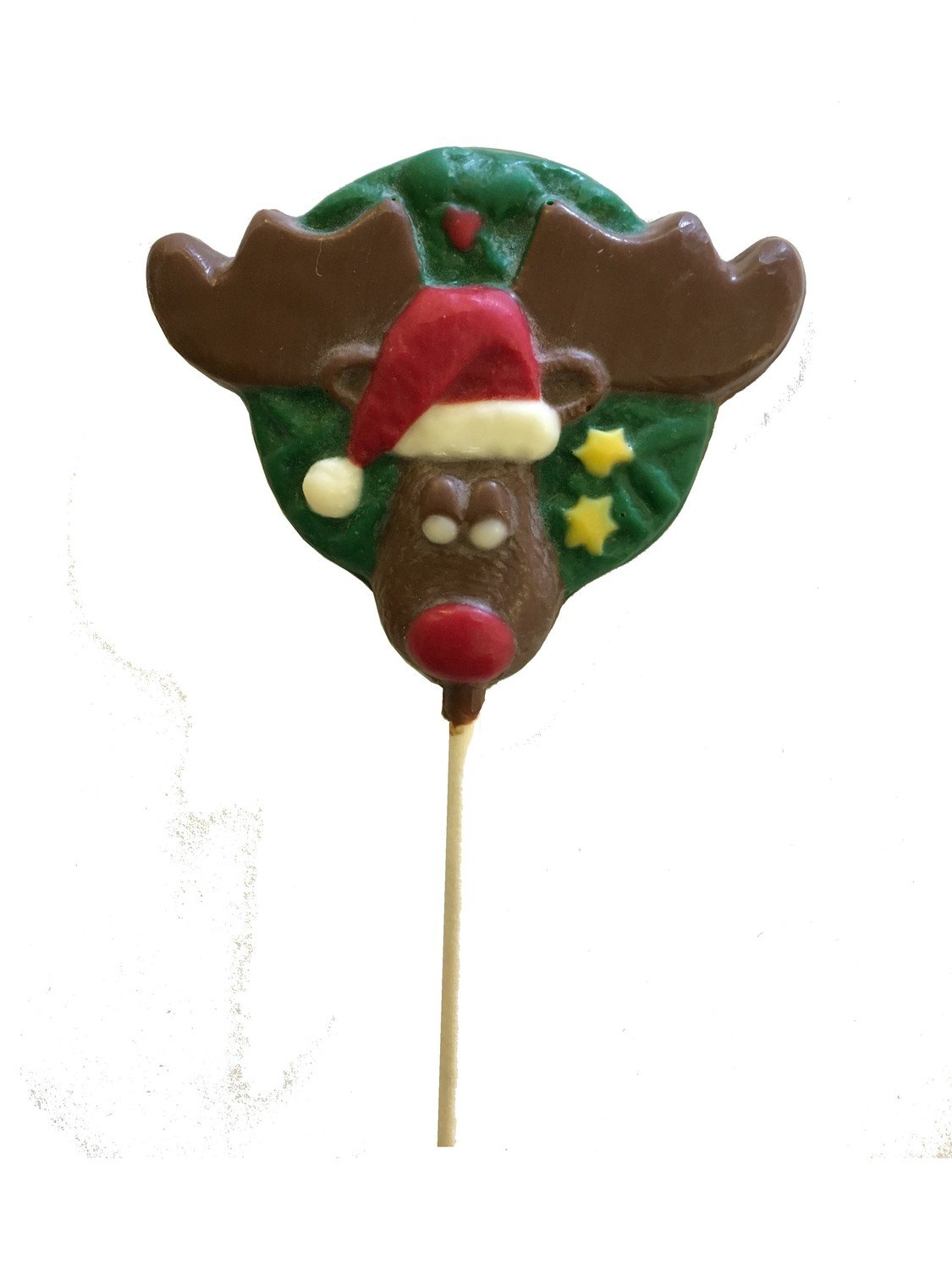 Chocolate Lollipops-Pollylops­®-Wreath with Moose