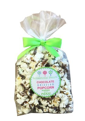Gourmet Chocolate Drizzled Popcorn - 1.5 oz. Favor Bag w/bow