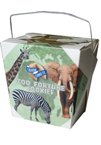Themed Fortune Cookies - Zoo