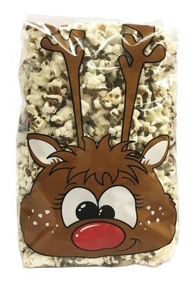Gourmet Chocolate Drizzled Popcorn 1/2 lb. Reindeer Bag