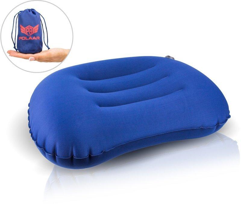 Reisekissen & Nackenkissen, ultraleicht, aufblasbar, abwaschbar, kleines Packmaß; stützt Nacken und Wirbelsäule