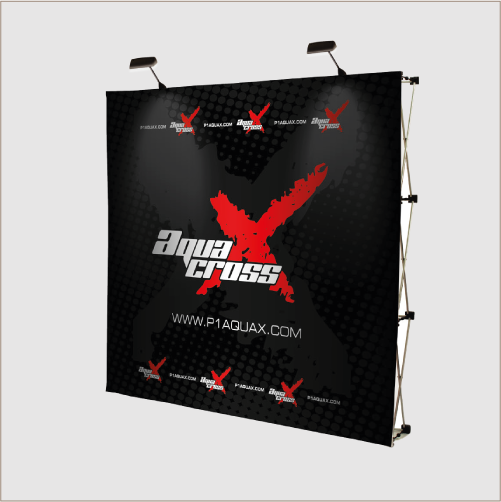 Impact Straight 3x3 Pop up Display (Fabric Graphic)