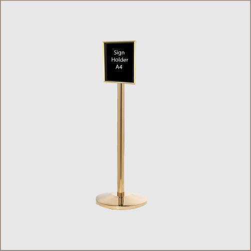 Sign Holder Brass Posts