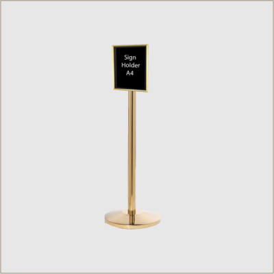 Sign Holder Brass Posts
