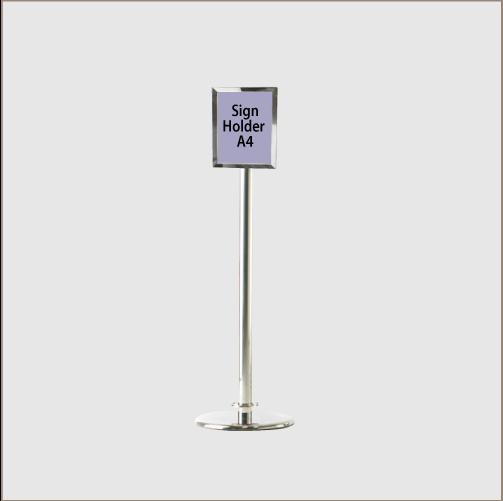 Sign Holder Chrome Posts