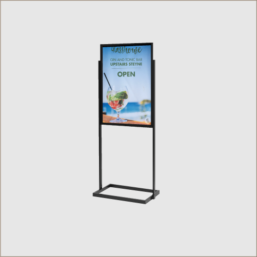 A1 Open Base Poster Stand