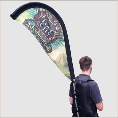 Teardrop Backpack Flags