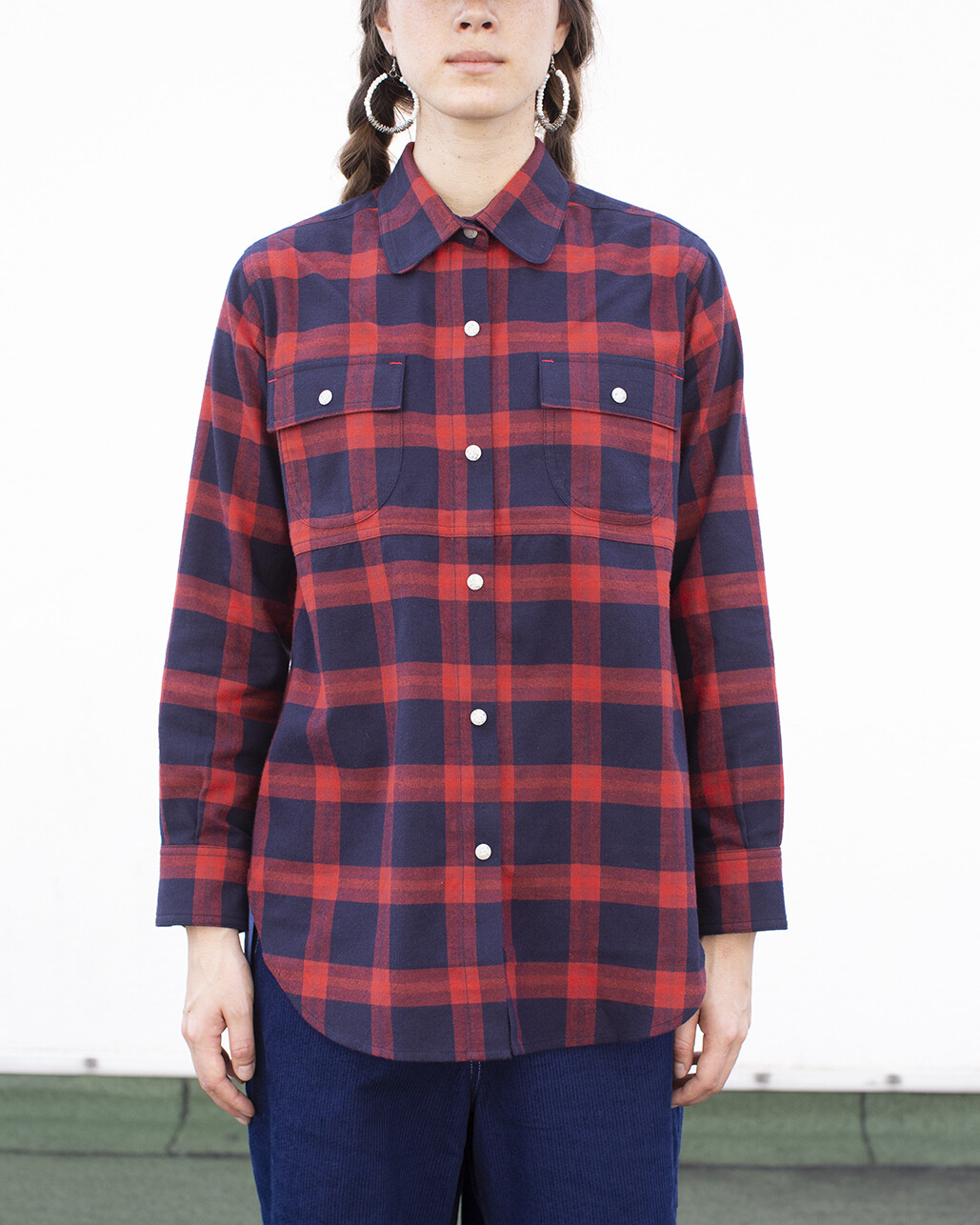 W'MENSWEAR LIMITED CREW SHIRT IN CHECK