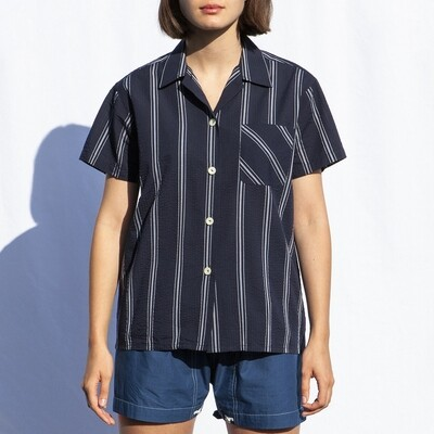 W'MENSWEAR RESEARCH SHIRT IN NAVY