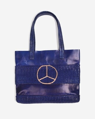 W'MENSWEAR BAN-THE-BOMB LEATHER TOTE