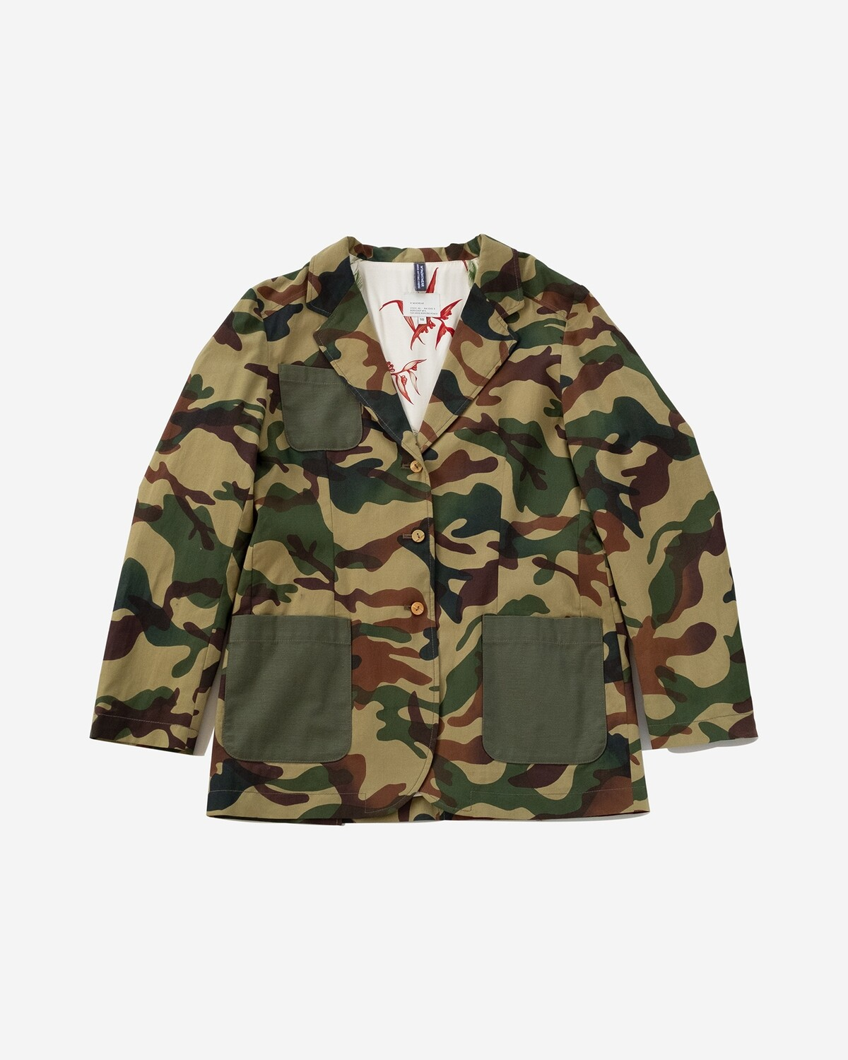 W'MENSWEAR Tropical Blazer in Camo