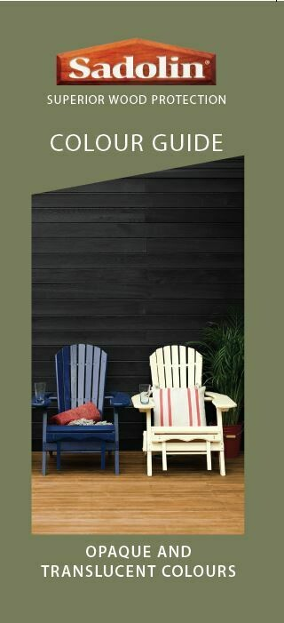 Sadolin Wood Protection Colour Guide