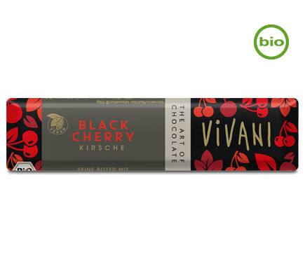 Vivani Organic BLACK CHERRY chocolate bar, 35g